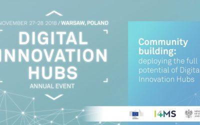 Digital Innovation Hubs Annual Event 2018 | 27-28 November 2018 | Warsaw